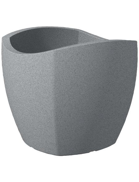 SCHEURICH Pflanzgefäß »WAVE GLOBE CUBO«, BxHxT: 39,4 x 35,5 x 39,4 cm, grau