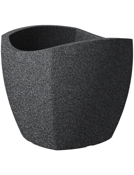 SCHEURICH Pflanzgefäß »WAVE GLOBE CUBO«, BxHxT: 39,4 x 35,5 x 39,4 cm, schwarz
