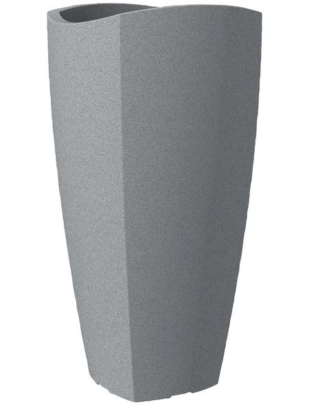 SCHEURICH Pflanzgefäß »WAVE GLOBE CUBO HIGH«, BxHxT: 29,6 x 60 x cm, grau