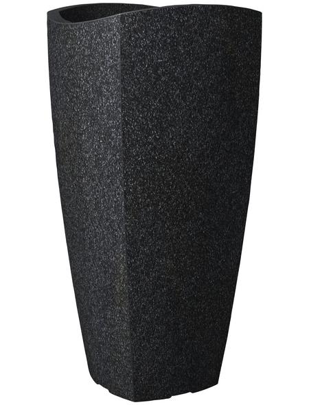 SCHEURICH Pflanzgefäß »WAVE GLOBE CUBO HIGH«, BxHxT: 39,5 x 80 x cm, schwarz