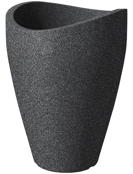 SCHEURICH Pflanzgefäß »WAVE GLOBE HIGH«, ØxH: 30 x 40 cm, schwarz