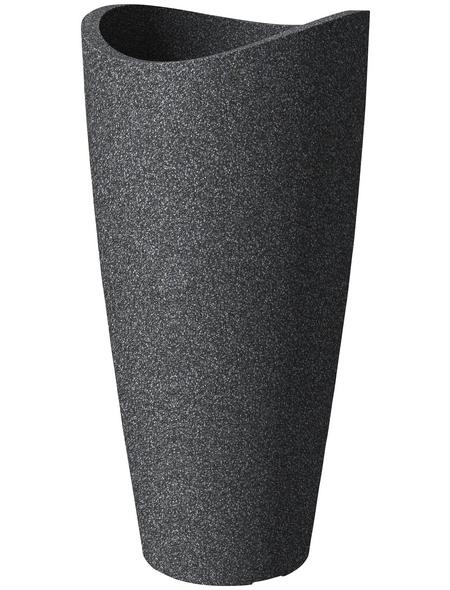 SCHEURICH Pflanzgefäß »WAVE GLOBE HIGH SLIM«, ØxH: 39,5 x 80 cm, schwarz