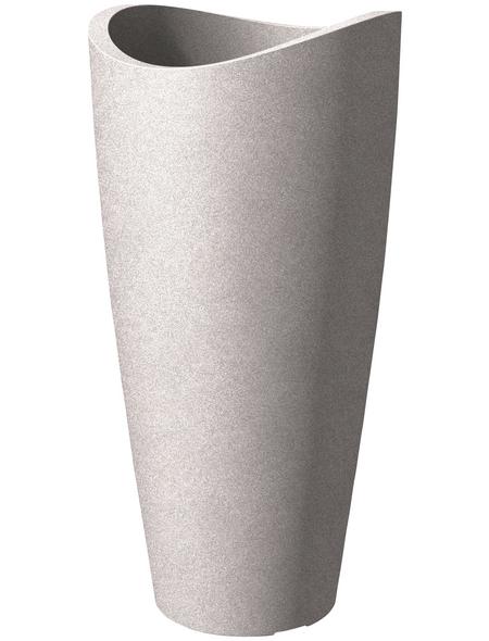 SCHEURICH Pflanzgefäß »WAVE GLOBE HIGH SLIM«, ØxH: 39,5 x 80 cm, taupe