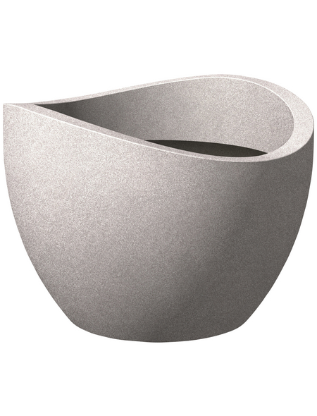 SCHEURICH Pflanzgefäß »WAVE GLOBE«, Kunststoff, taupe, rund