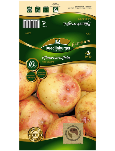 Quedlinburger Pflanzkartoffel, Solanum tuberosum »King Edward «, 10 Stück