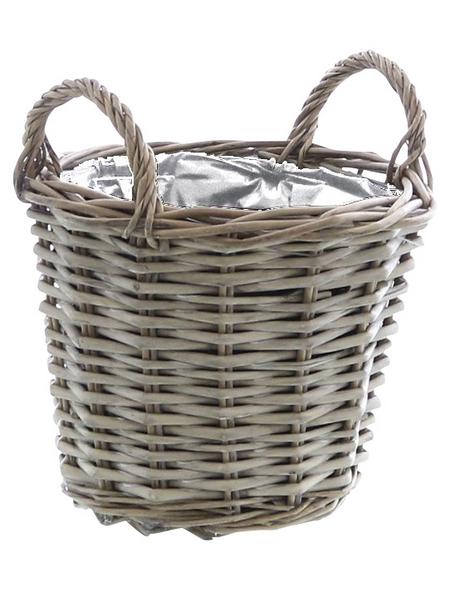 Pflanzkorb, ØxH: x 16 cm, grau