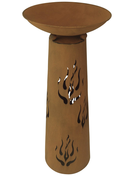 GARDEN PLEASURE Pflanzschale, ØxH: 36 x 85 cm, rostfarben, 2-teilig