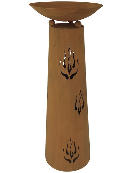 GARDEN PLEASURE Pflanzschale, ØxH: 45 x 118,5 cm, rostfarben, 2-teilig