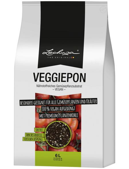 LECHUZA Pflanzsubstrat »PON«, für Gemüsepflanzen, torffrei
