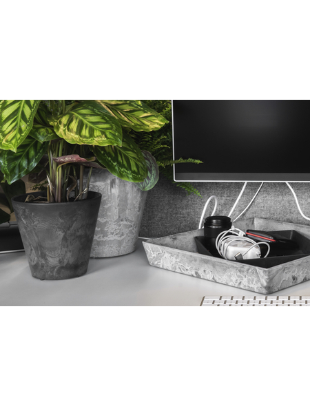 ARTSTONE Pflanztopf »Artstone«, Breite: 22 cm, schwarz, Kunststoff