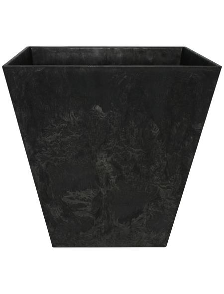 ARTSTONE Pflanztopf »Artstone«, Breite: 25 cm, schwarz, Kunststoff