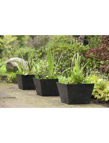 ARTSTONE Pflanztopf »Artstone«, Breite: 30 cm, schwarz, Kunststoff