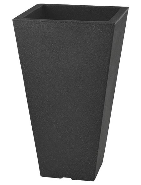 Pflanzvase »Capri«, BxHxT: 27 x 45 x 27 cm, anthrazit