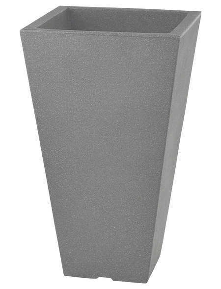 Pflanzvase »Capri«, BxHxT: 27 x 45 x 27 cm, steingrau