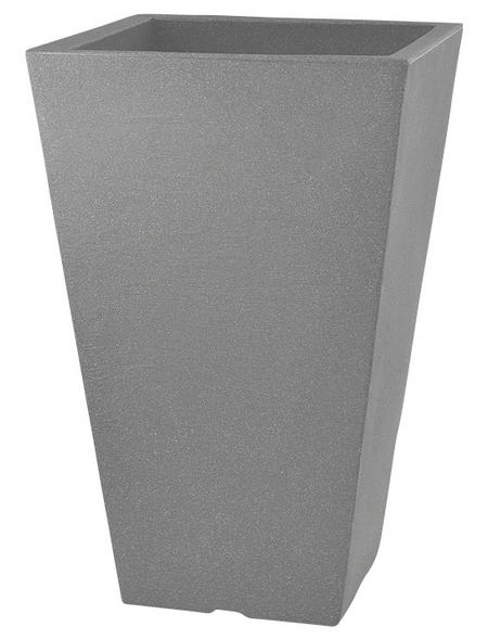Pflanzvase »Capri«, BxHxT: 35 x 55 x 35 cm, steingrau