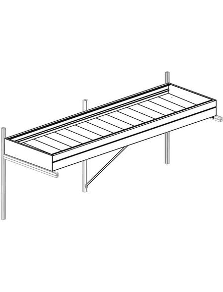 KGT Pflanzwanne »Linea«, BxHxL: 110 x 10 x 63,5 cm, Aluminium