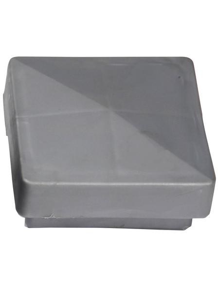 FLORAWORLD Pfostenkappe, BxHxT: 3 x 6 x 6 cm, silberfarben, für Pfostenabdeckung