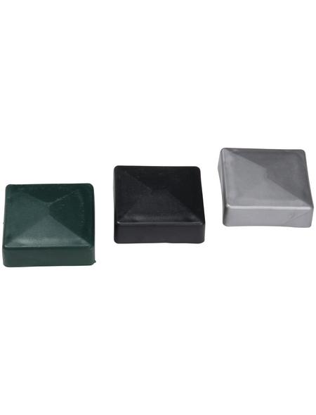 FLORAWORLD Pfostenkappe, BxHxT: 4 x 3 x 4 cm, anthrazit, für Zaun und Eckpfosten 40 x 40 mm