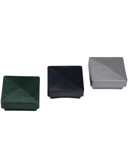 FLORAWORLD Pfostenkappe, BxHxT: 6 x 3 x 6 cm, anthrazit, für Zaun und Eckpfosten 60 x 60 mm