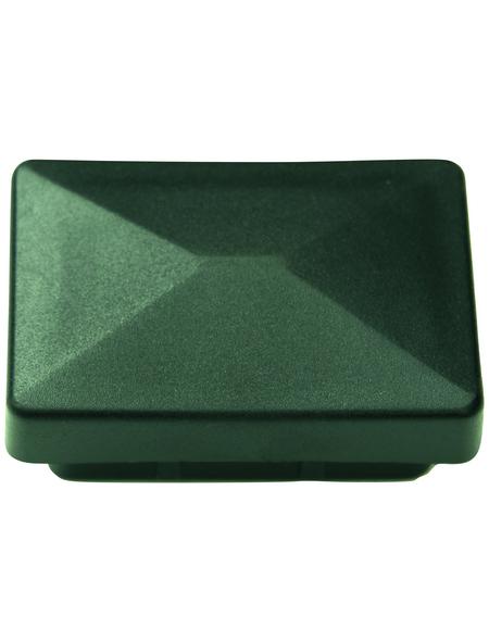 FLORAWORLD Pfostenkappe, BxHxT: 6,5 x 2,7 x 4,4 cm, grün, für Zaun und Eckpfosten 60 x 40 mm