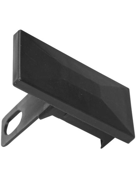 FLORAWORLD Pfostenkappe, BxHxT: 9,5 x 7,2 x 4,5 cm, anthrazit, für Premium Pfosten 60 x 40 mm