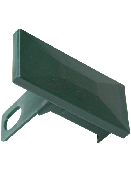 FLORAWORLD Pfostenkappe, BxHxT: 9,5 x 7,2 x 4,5 cm, grün, für Premium -Pfosten 60 x 40 mm