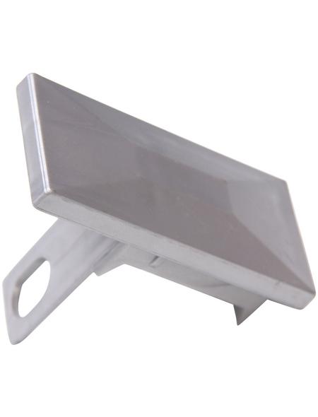 FLORAWORLD Pfostenkappe, BxHxT: 9,5 x 7,2 x 4,5 cm, silberfarben, für Premium -Pfosten 60 x 40 mm
