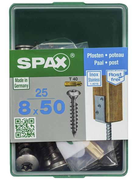 SPAX Pfostenschraube, T-STAR plus, 25 Stk., 8 x 50 mm