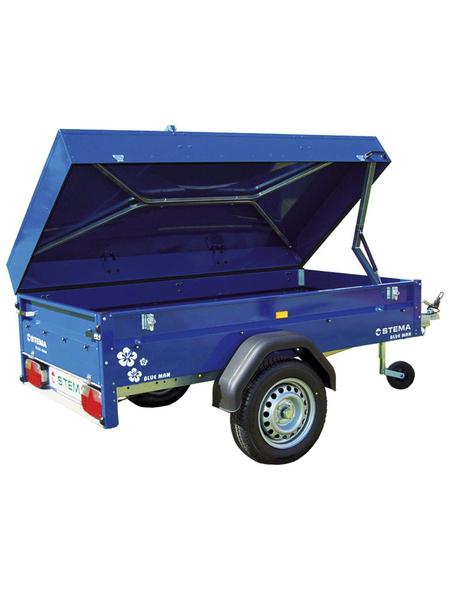 STEMA PKW-Anhänger »Blue Man 750 COC«, BxLxH: 108 cm x 201 cm x 53 cm, max. Nutzlast 568 kg