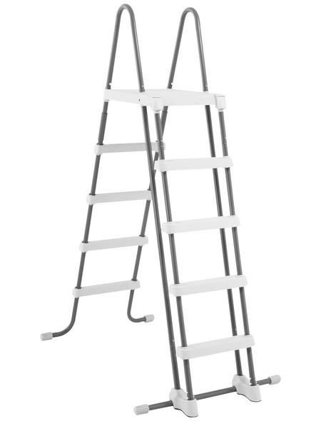 STEINBACH Pool-Leiter, Kunststoff, schwarz, Höhe: 182 cm