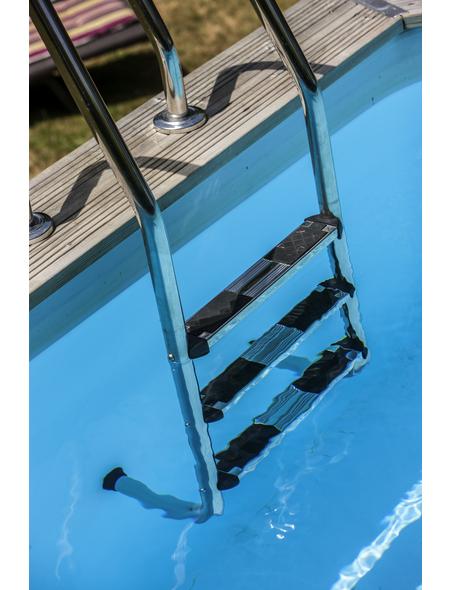 GRE Pool-Leiter, mit 3 Stufen, für Aufstellbecken