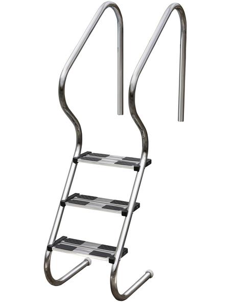 GRE Pool-Leiter, mit 3 Stufen, für Einbaubecken