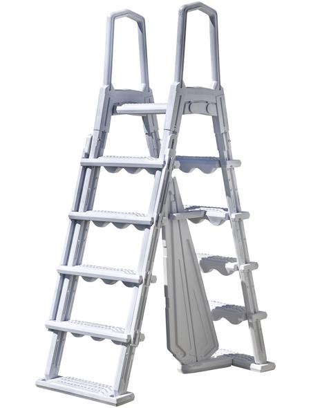 GRE Pool-Leiter, mit 4 Stufen, für Aufstellbecken