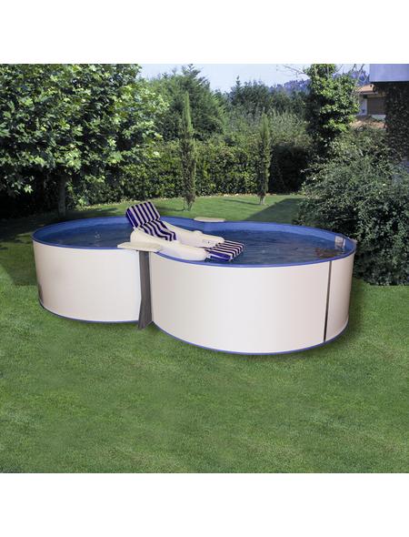 MYPOOL Pool-Set,  achtform, B x L x H: 300 x 470 x 120 cm