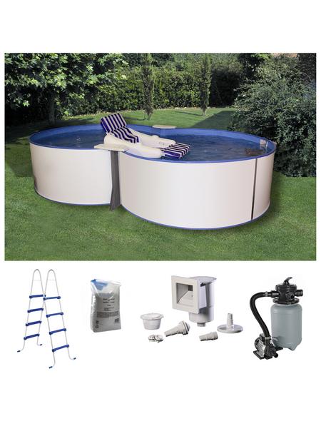 MYPOOL Pool-Set,  achtform, B x L x H: 320 x 525 x 120 cm