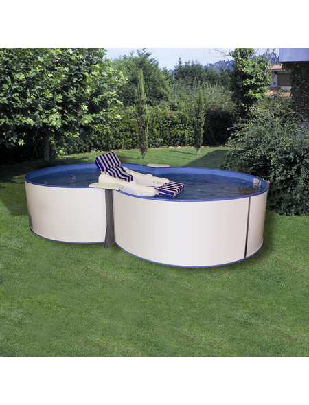 MYPOOL Pool-Set,  achtform, B x L x H: 360 x 625 x 120 cm