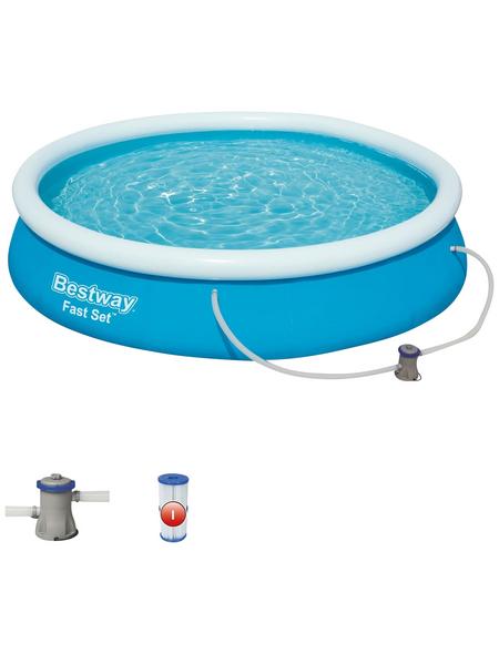 BESTWAY Pool-Set »Fast Set™«, Ø x H: 366 cm x 76 cm