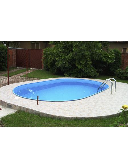 Pool-Set,  oval, BxLxH: 250 x 450 x 110 cm