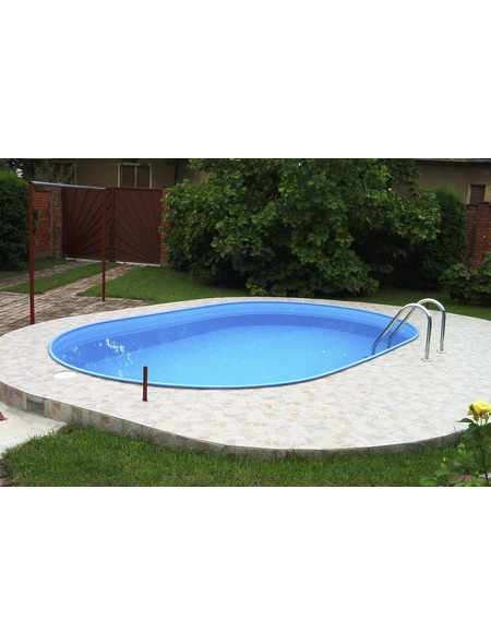 Pool-Set , oval, BxLxH: 300 x 490 x 120 cm