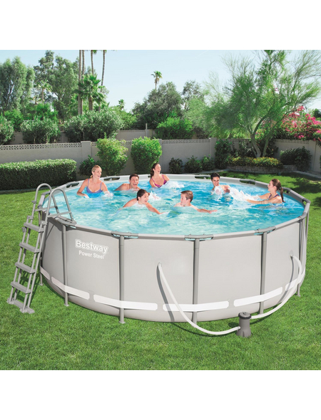 BESTWAY Pool-Set »Power Steel«, rund, Ø x H: 427  x 122 cm