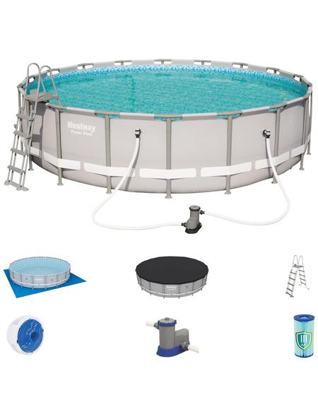 BESTWAY Pool-Set »Power Steel«, rund, Ø x H: 549  x 132 cm