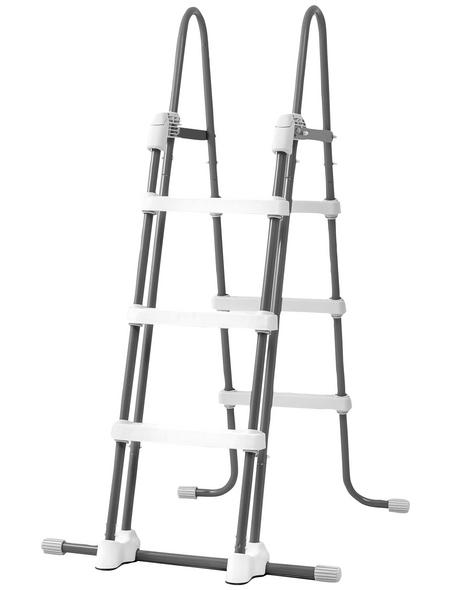 INTEX Pool-Sicherheitsleiter, Stahl, geeignet für: Aufstellpools mit 91 bis 107 cm Höhe