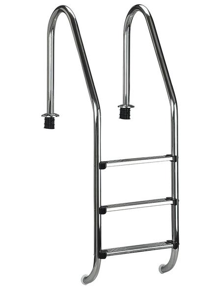 SUMMER FUN Pool-Tiefbeckenleiter, Stahl, geeignet für: Beckenhöhe 120 cm