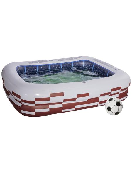 Pool, weiss|dunkelrot, BxHxL: 200 x 50 x 150 cm