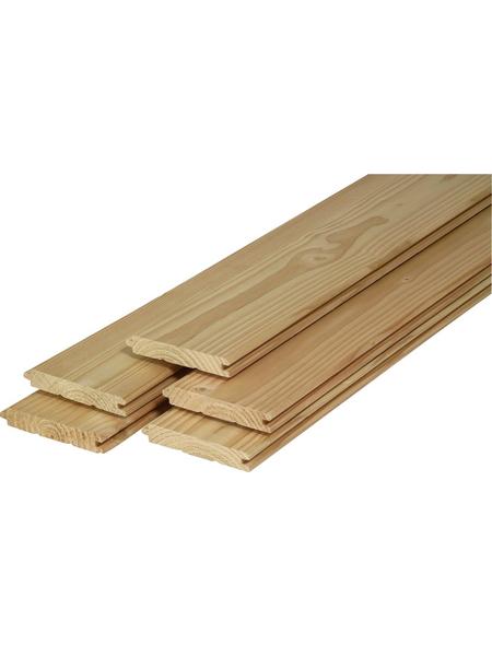 Profilholz, Fichte / Tanne, BxH: 9,6 x 210 cm, Stärke: 12,5 mm