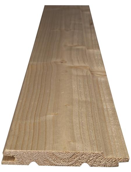 KLENK HOLZ Profilholz, tanne|fichte, BxH: 9,6 x 200 cm, Stärke: 12,5 mm
