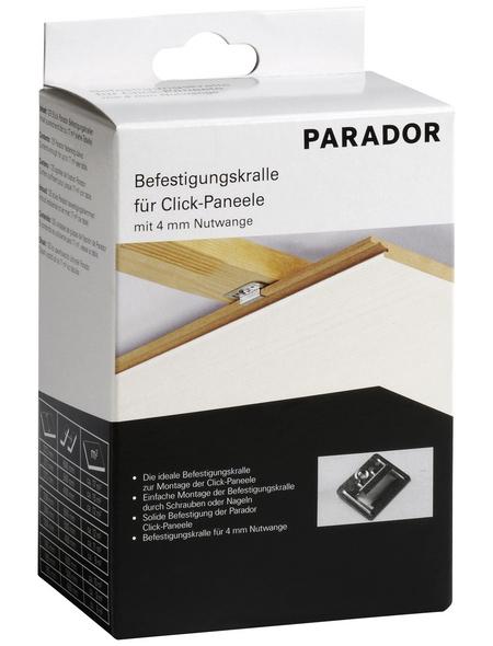 PARADOR Profilkralle, für Nut-Feder-Paneele, K 400, 4 mm, 125 Stück