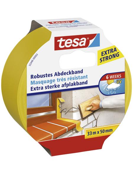 TESA Putzband, gelb, Breite: 5 cm, Länge: 33 m