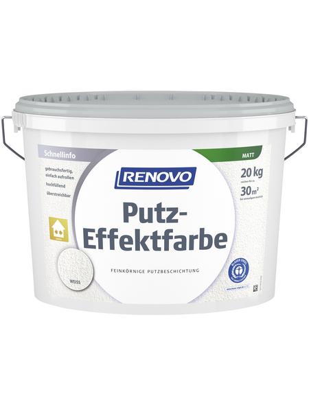 RENOVO Putzeffektfarbe, weiß, 20 kg