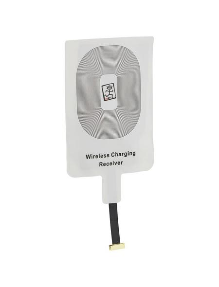 2GO QI-Empfänger, Weiß | Schwarz, Micro-USB-Stecker